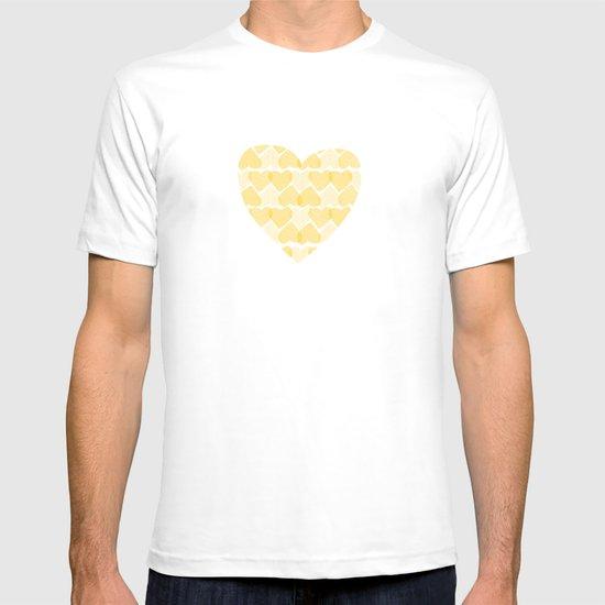 Pretty golden heart T-shirt