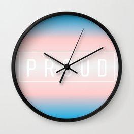 Transgender Flag v2 - Pride Wall Clock
