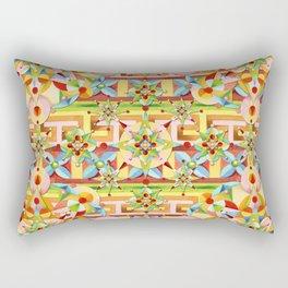 Rainbow Carousel Starburst Rectangular Pillow