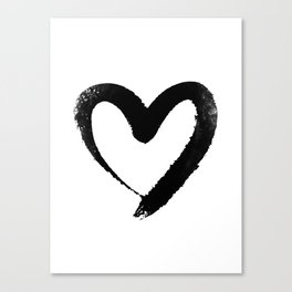 Ink Heart Minimal Fashion Stylish Canvas Print