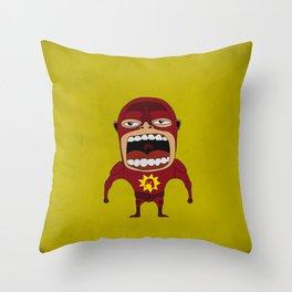 Screaming Crimson Bolt Throw Pillow