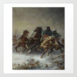 ADOLF SCHREYER (1828-1899), GERMAN RUSSIS DE COURIER Art Print