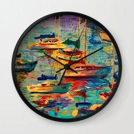 Morning Sailboats Wall Clock
