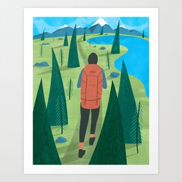 Backpacker Art Print