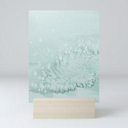 Teal Water Abstract II Mini Art Print