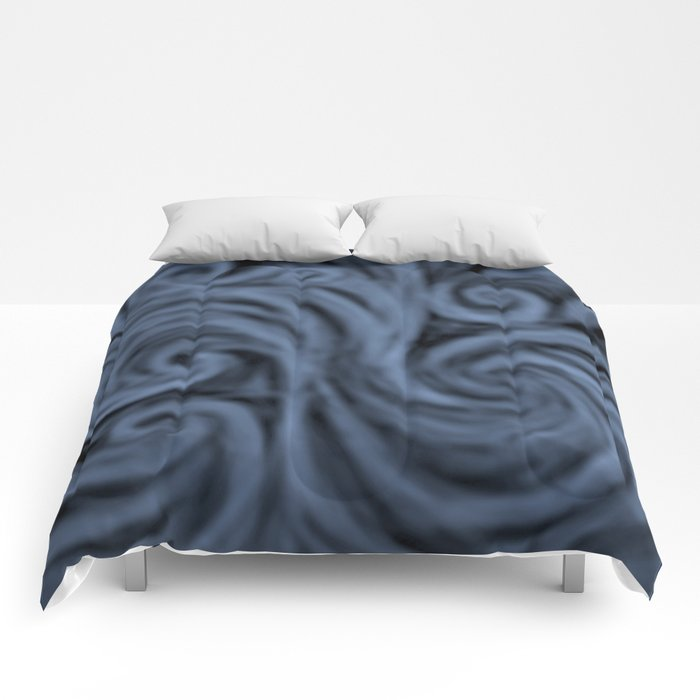 dark blue swirl Comforters