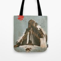 castle Tote Bags featuring hidden castle by Steven Toang