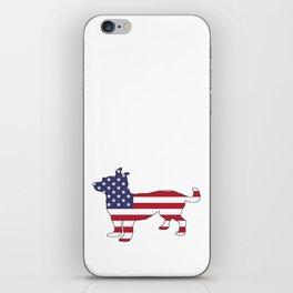 """Chihuahua """"American Flag"""" iPhone Skin"""