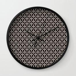 Eyes pattern black Wall Clock