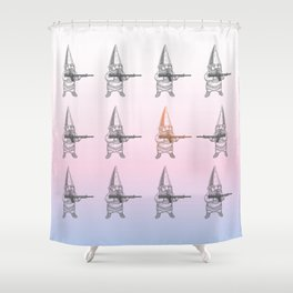 dwarf fight  Shower Curtain