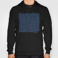 Half Knit Navy Hoody