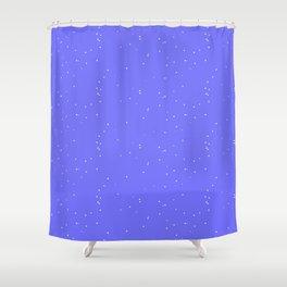 Lavender Blue Shambolic Bubbles Shower Curtain