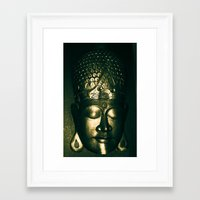 buddah Framed Art Prints featuring Buddah Face by Gloria Betancur