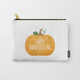 Happy Thanksgiving | Pumpkin Carry-All Pouch