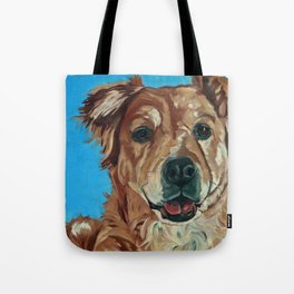 Cody the Golden Labrador Mix Dog Portrait Tote Bag