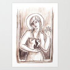 Fire Saint Art Print