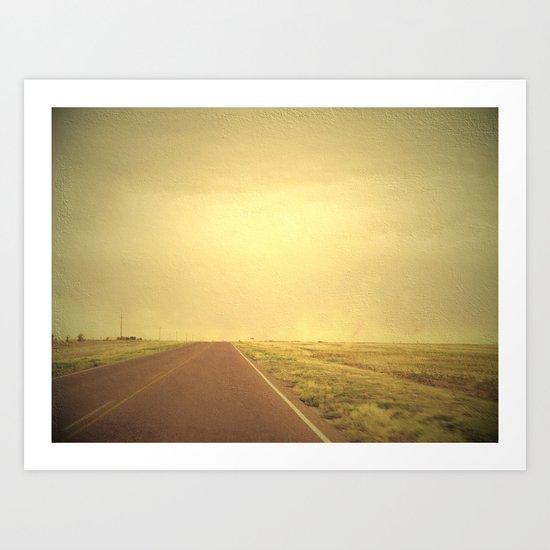 Lonely road 1 Art Print
