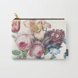 A Bouquet - Vintage Botanical Print Carry-All Pouch
