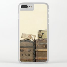 Steamer Trunks and Vintage Luggage Clear iPhone Case