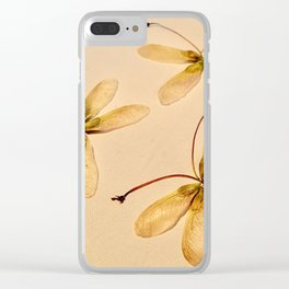 Seed butterflies Clear iPhone Case