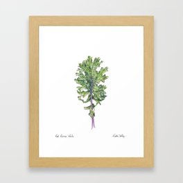 Red Russian Kale Framed Art Print