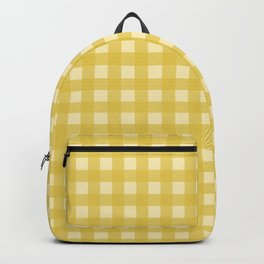 Mustard Yellow Buffalo Checks Backpack