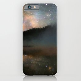 Milky Way Over Yellowstone iPhone Case