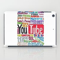 youtube iPad Cases featuring Youtube Colored Collage by emma
