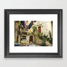 Trogir Washing  Framed Art Print