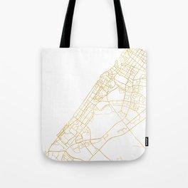 DUBAI UNITED ARAB EMIRATES CITY STREET MAP ART Tote Bag