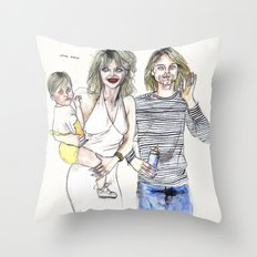 The cobains Throw Pillow