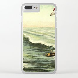 With rainfall and thunder close behind Clear iPhone Case