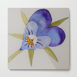 Pretty purple painterly flower Metal Print