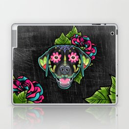 Labrador Retriever - Black Lab - Day of the Dead Sugar Skull Dog Laptop & iPad Skin