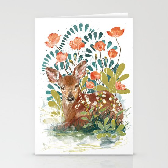 In the grass Stationery Cards