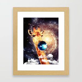 galaxy bubble gum Framed Art Print