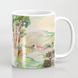 Paint by Number Red Barn Coffee Mug