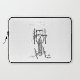 patent art Baker Velocipede 1883 Laptop Sleeve