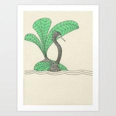 vert pale pc 920 Art Print
