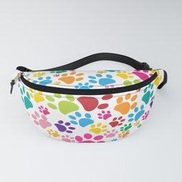 Dog paw print made of heart Fanny Pack
