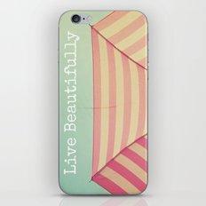 Pink Umbrella Aqua Sky iPhone & iPod Skin