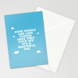 Some People Are Like Clouds Stationery Cards