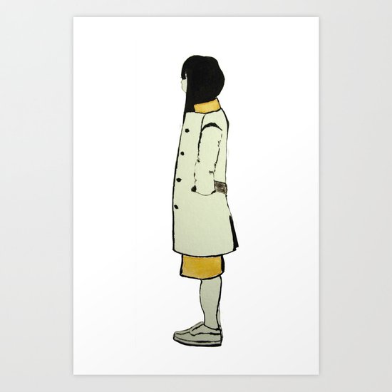 The Coat Art Print