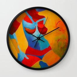 Girl Figurative Art Print Wall Clock