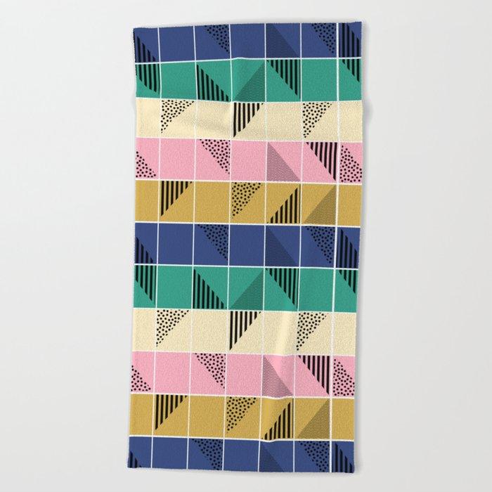 Mosaic #1 Beach Towel