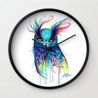 aurora Wall Clocks featuring -Aurora- by PeeGeeArts