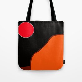 Red full moon Tote Bag