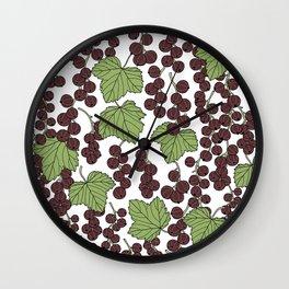 Black Currants Wall Clock
