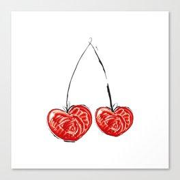 Cherry in love Canvas Print