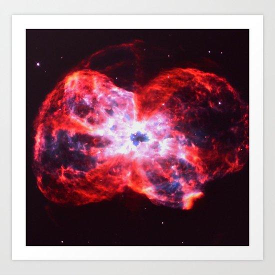 Massive Explosion Art Print